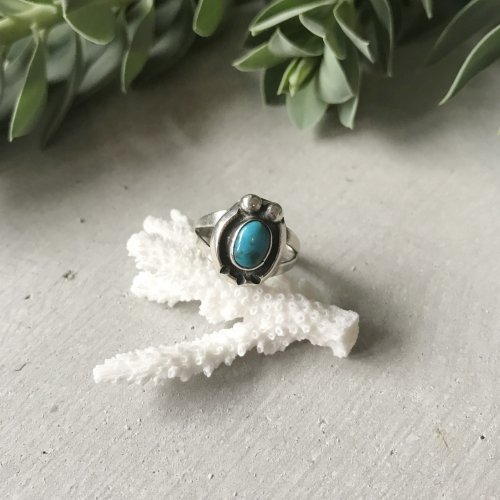 Native American Naja Silver Turquoise Ring