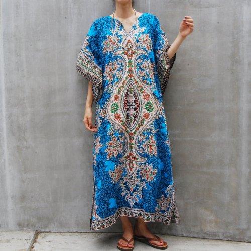 Vintage Blue  Ethnic Dress