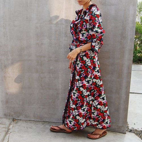 Flower Long Wrap Gown