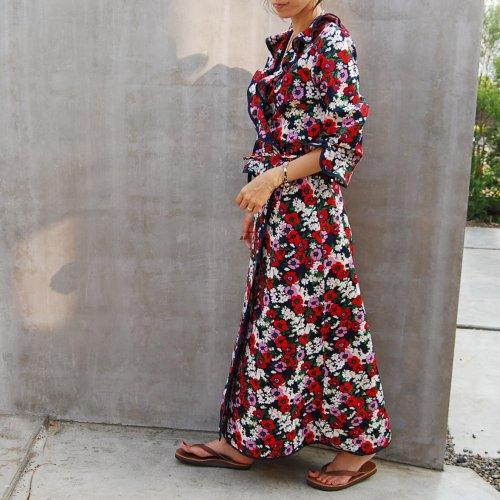 Flower Long Wrap Gown