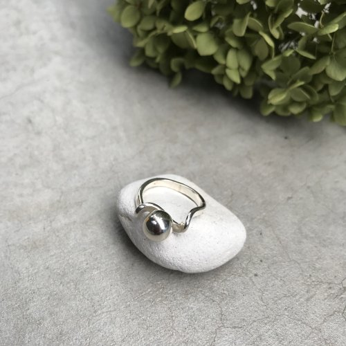 Vintage Sterling silver Twist ball   Ring