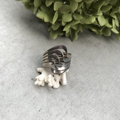 Vintage Sterling silver  5 wave  ring