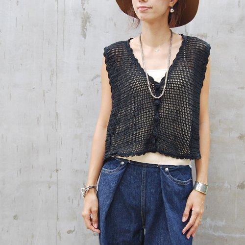 Black Crochet vest
