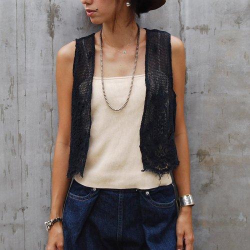 Vintage Black Lace vest