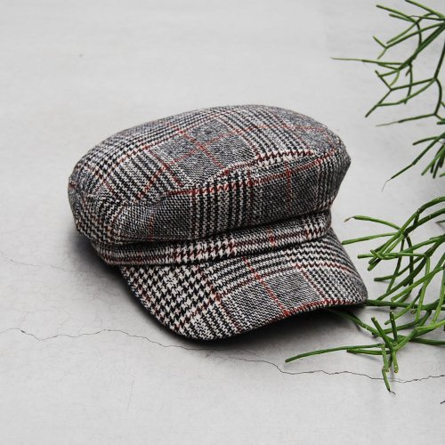 Glen check Marine Cap