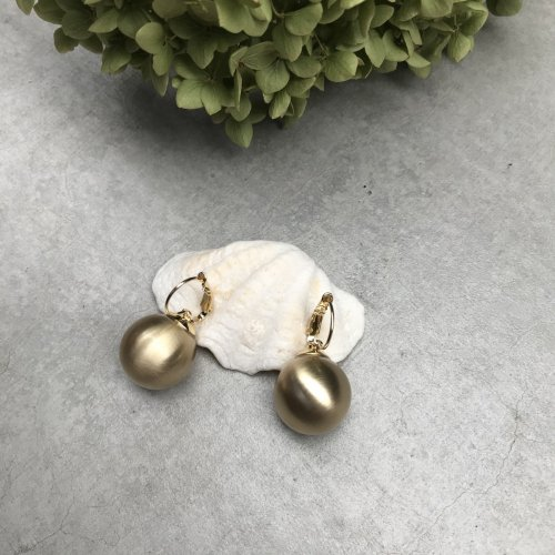 Swing Ball Earrin (gold)