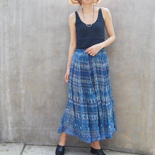 India cotton see-through skirt
