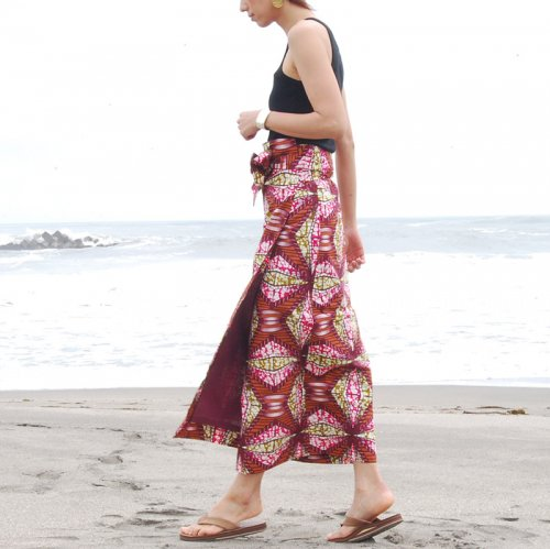 Pagne Wrap Skirt_wine2