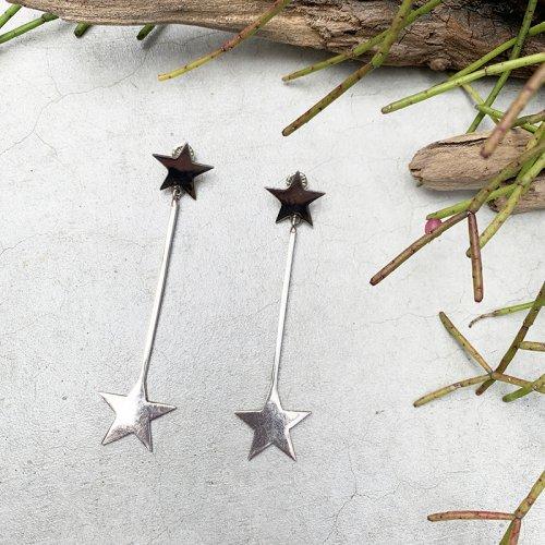 Star & Bar Long Earring