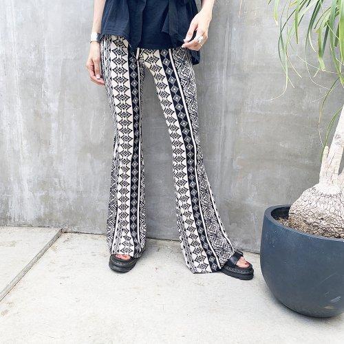 Bohemian Flare Pants D