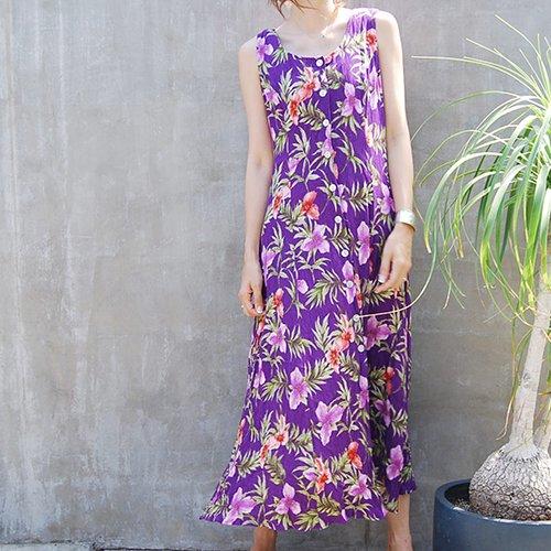 Purple Flower Onepiece