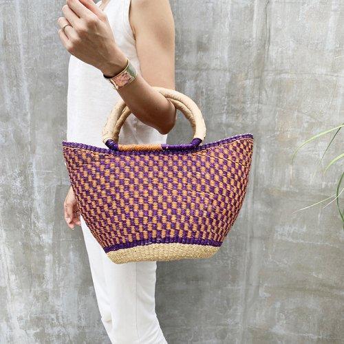 Burkina Faso Lace Basket Colorful L