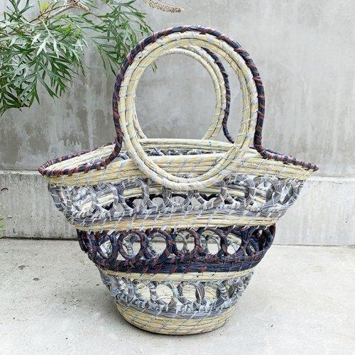 Madagascar Colorful Basket (gray)