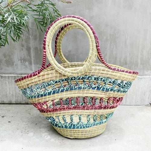 Madagascar Colorful Basket (purple)