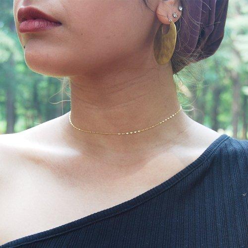 【予約】K18 Single Petal Choker Necklace