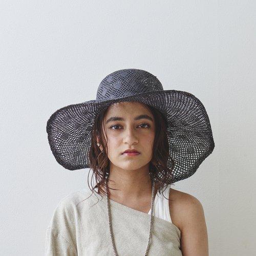 Rombus Pattern Tulip hat _Black