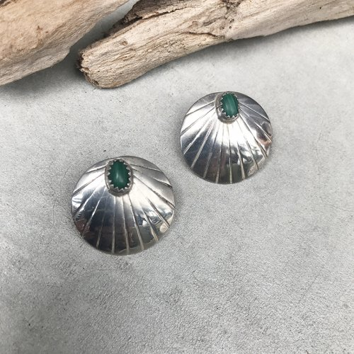 Malachite Concho Earring