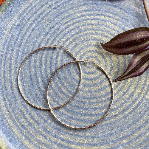 TAXCO Silver Hoop Earring 70
