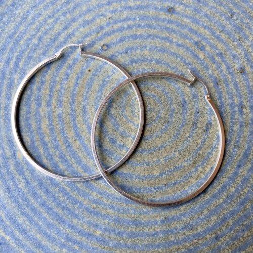 TAXCO Silver Hoop Earring 60.5 Plain