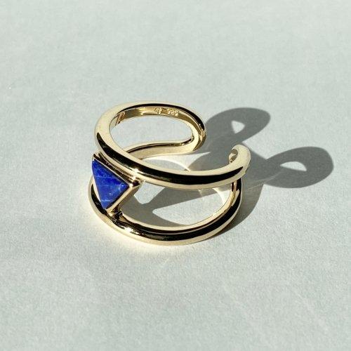 【予約】Triangle Lapislazuli Ring