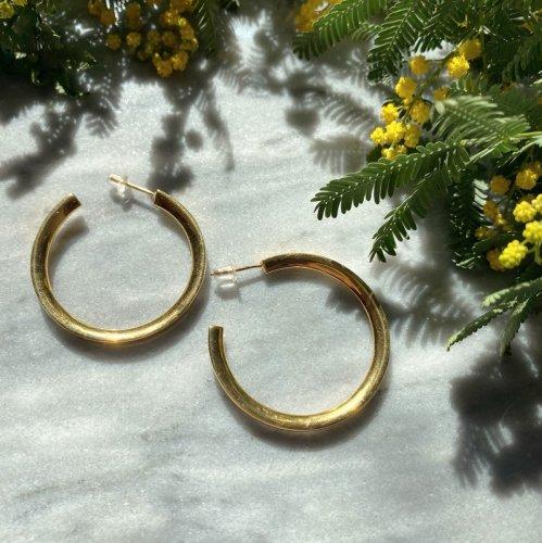 Gold Color Hoop Earring