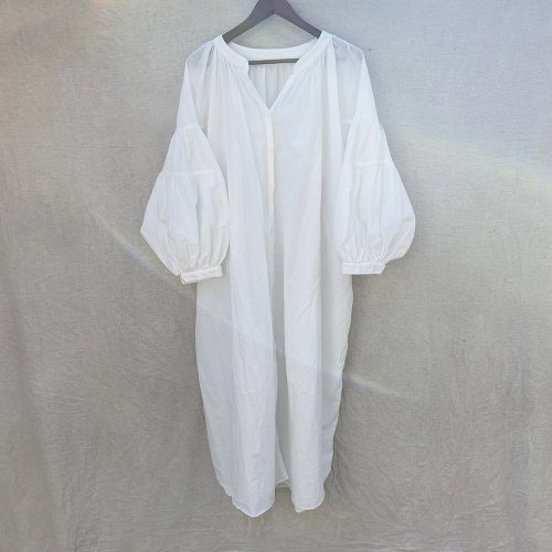 Balloon Sleeve Long Gown