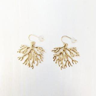 Coral Earring(gold)