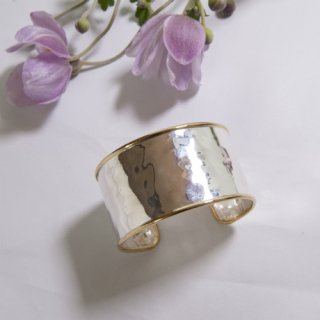 Wide Trim Silver Bangle