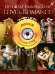 120 Great Paintings of Love & Romance CD-ROM and Book(特価品)
