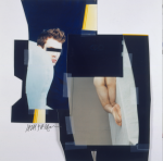 Jack Pierson: UNTITLED,1998.PHOTOGRAPHIC COLLAGE PINNED TO WALL, 101.6 X 66 CM.