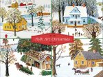 Folk Art Christmas Deluxe Holiday Notecards(特価品)