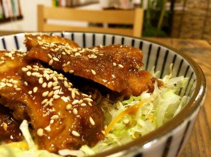 にんにく男味噌★簡単ソースカツ丼
