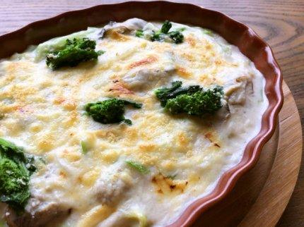 今が旬♪牡蠣と野菜の味噌グラタン