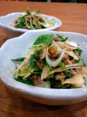 葉にんにくのツナサラダ