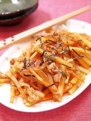 野菜のスタミナ韓国炒め