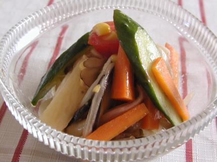カラフル野菜のスタミナマリネ
