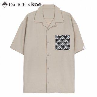 <img class='new_mark_img1' src='https://img.shop-pro.jp/img/new/icons1.gif' style='border:none;display:inline;margin:0px;padding:0px;width:auto;' />Da-iCE×KOE Open collar shirt Beige◎特典対象商品◎【EC限定完全受注生産10/24(日)23:59まで】※12月中旬発送予定