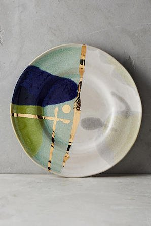 Gold Accent Dessert Plate   ゴールド...