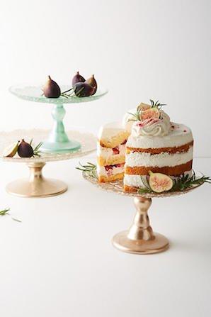 Metallic Lace Cake Stand人気ガラスケ...