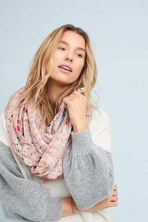 Blanket-Stitched Infinity Scarf  フ...