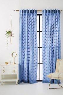 Nala Jacquard Curtain カーテン 2枚セット スレート (関税送料消費税込)