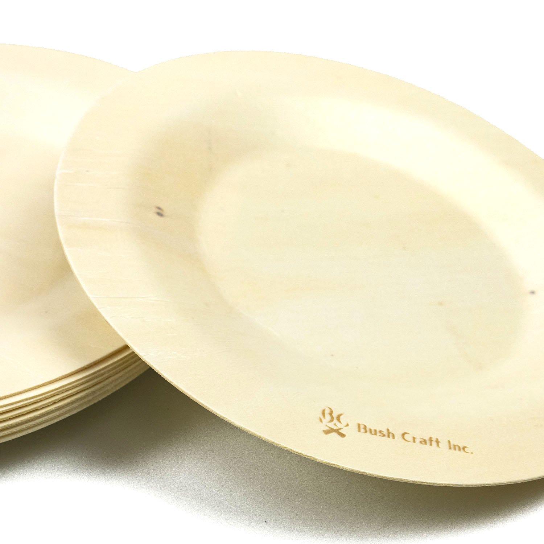 紙皿のように気軽に使える使い捨ての木のお皿