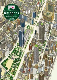 『港町神戸鳥瞰図2008』  ノート03(緑)