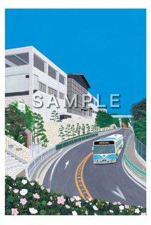 須飼秀和  絵ハガキ 「明石の風景」  <明石市立文化博物館>
