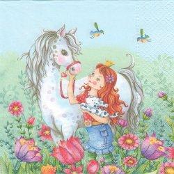 廃盤 Like a dream ライク・ア・ドリーム 白い馬 Nina Chen 1枚 バラ売り 33cm ペーパーナプキン デコパージュ Paper+Design