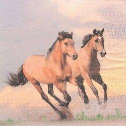 廃盤 Wild Horses ワイルド・ホース 野生の馬 夕映えギャロップ 1枚 バラ売り 33cm ペーパーナプキン HOME FASHION