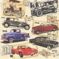 Classic Cars クラシック・カー 車 1枚 バラ売り 33cm ペーパーナプキン デコパージュ HOME FASHION