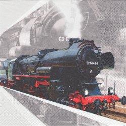Lokomotive 蒸気機関車 1枚 バラ売り 33cm ペーパーナプキン デコパージュ HOME FASHION