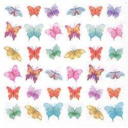 廃盤 Butterflies Collage バタフライ・コラージュ ミニ蝶 shutterstock 1枚 バラ売り 33cm ペーパーナプキン デコパージュ ppd
