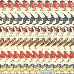 1枚/小鳥たちのガーランド/21.5cm角/ポケットペーパーハンカチ・紙ハンカチ/ミニペーパーナプキン/デコパージュ